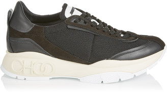 Jimmy Choo RAINE/M Black Suede Leather and Mesh Chunky Trainers