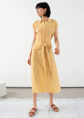 And other stories Waist Knot Midi Dress