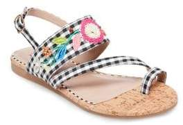 Betsey Johnson Ansley Embroidered Sandals