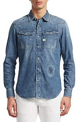 G Star Men's 3301 Graft Slim Fit Denim Shirt