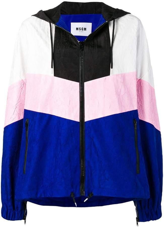 oversized colour block jacket