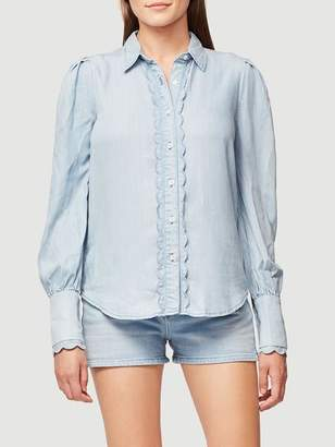 Frame Scallop Denim Top