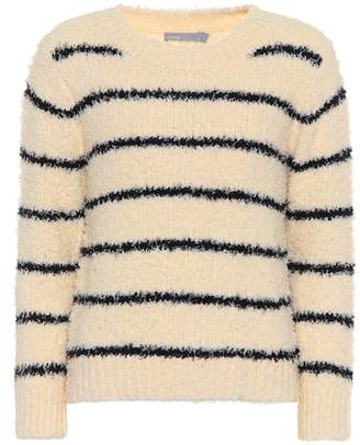 Vince Cotton and linen-blend sweater