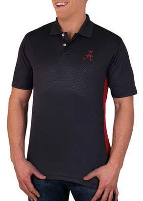 NCAA Alabama Crimson Tide Men's Synthetic Embossed-Pattern Polo