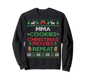 Ugly Christmas Pajama MMA Mixed Martial Arts Fan Sweatshirt