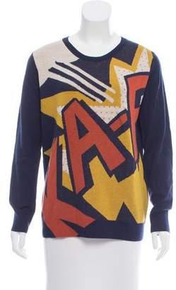 3.1 Phillip Lim Intarsia Patterned Wool Sweater