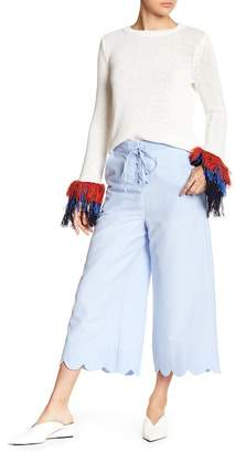 ENGLISH FACTORY Lace Up Wide Pants