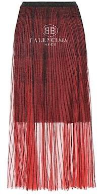 Balenciaga Mesh maxi skirt