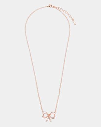 Ted Baker LAHRI Small heart bow pendant