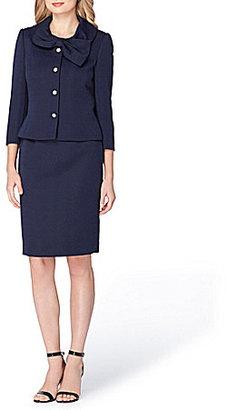 Tahari ASL Bow-Neck Jacquard 2-Piece Skirt Suit $129.99 thestylecure.com