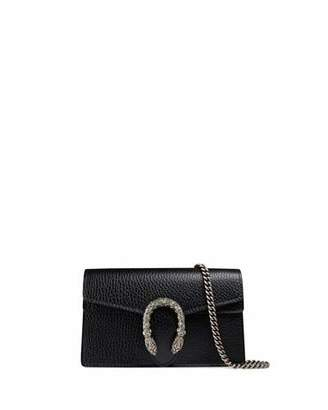 Gucci Dionysus Leather Super Mini Bag, Black $790 thestylecure.com