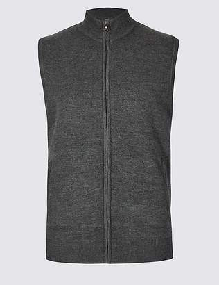 Marks and Spencer Merino Wool Blend Textured Gilet