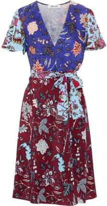 Diane von Furstenberg Floral-Print Silk Crepe De Chine Wrap Dress