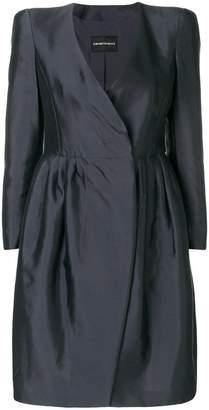 Emporio Armani structured mini dress