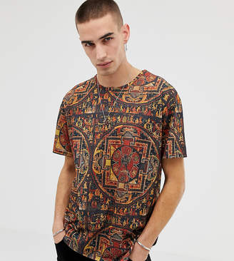 Heart N Dagger relaxed fit all over printed t-shirt