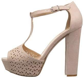 Qupid Women's BEAT-92 Heeled Sandal
