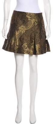 Ostwald Helgason Metallic Jacquard Mini Skirt w/ Tags