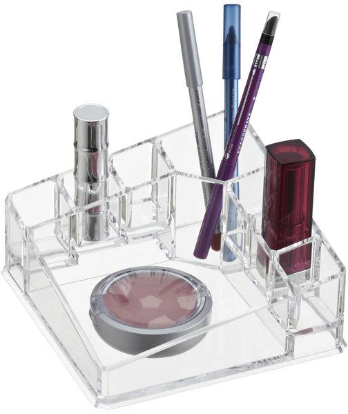 Container Store Acrylic Corner Cosmetic Organizer