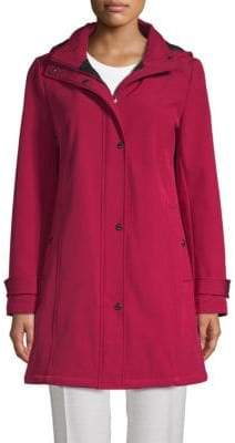 Calvin Klein Snap-Up Hooded Zip Jacket