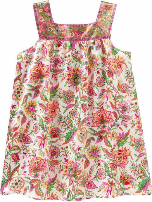 Vibrant floral tank dress