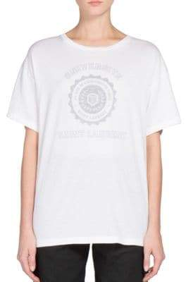 Saint Laurent SLP Universite Cotton Tee