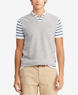 Polo Ralph Lauren Men V-Neck Cotton Sweater Vest