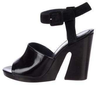 Celine Leather Ankle Strap Sandals w/ Tags