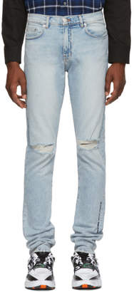 Adaptation Blue Slim Ripped Skinny Jeans