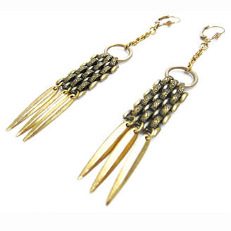 Louise Manna Fish Scale Drop Earrings