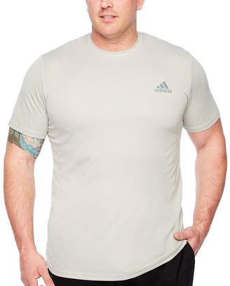 adidas Essential Tech Tee Short Sleeve Crew Neck T-Shirt-Big and Tall