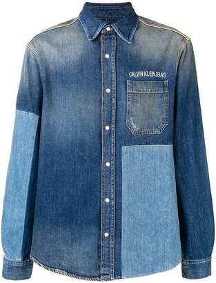 Calvin Klein Jeans panelled denim shirt