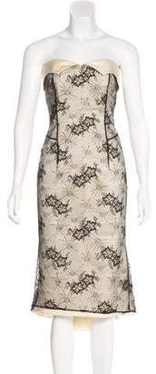 L'Wren Scott Strapless Lace Dress