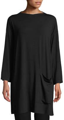 Eileen Fisher Bateau-Neck Jersey Tunic, Plus Size