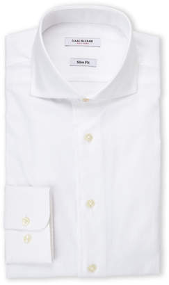 Isaac Mizrahi Slim Fit White Oxford Dress Shirt