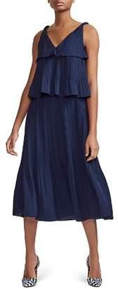 Maje Rockanil Tiered Midi Dress