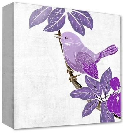 Violet Wings I Decorative Canvas Wall Art 16