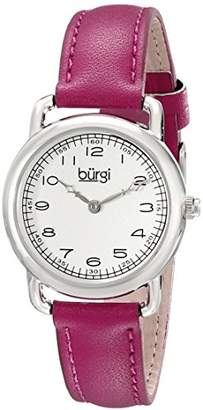 Burgi Women's Pure Essence Quartz Watch with White Dial and Purple Strap BUR121PU