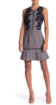 Adelyn Rae Diane Tweed & Lace Dress