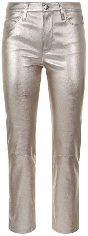 Metallic Straight Leg Jeans