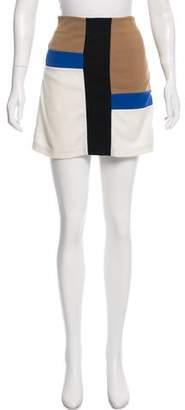 Diane von Furstenberg Color Block Mini Skirt