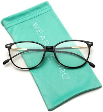 1f844584dda Cat Eye WearMe Pro - Elegant Classic Thin Frame Women Prescription Glasses