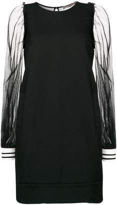 Twin-Set sheer sleeve dress