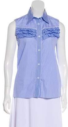 Miu Miu Sleeveless Button-Up Blouse