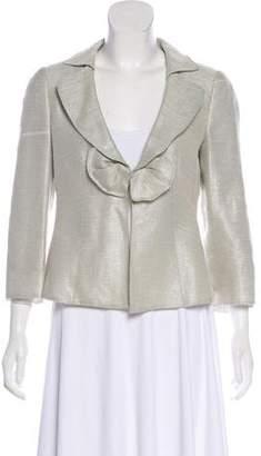 Armani Collezioni Metallic Structured Jacket