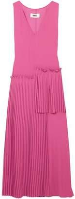 MM6 MAISON MARGIELA Pleated Crepe Midi Dress