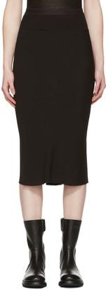 Rick Owens Black Knee Length Skirt $550 thestylecure.com