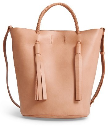 Madewell Austin Leather Bucket Bag - Brown