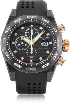 Locman Stealth 300mt Black/Gold Carbon Fiber and Titanium Quartz Movement Men's Chronograph Watch