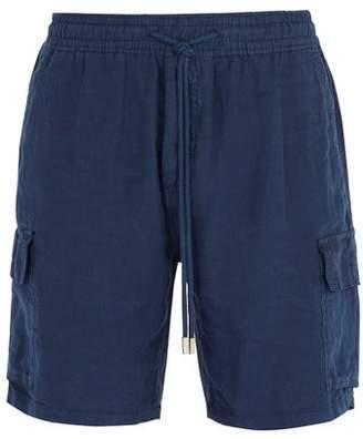 Vilebrequin Baie Drawstring Linen Shorts - Mens - Navy