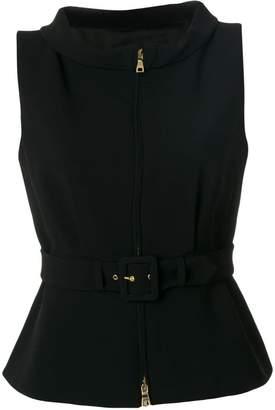 Moschino belted waistcoat